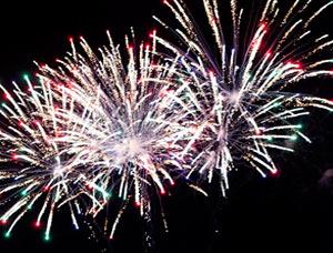 Fuegos artificiales en las fiestas patronales